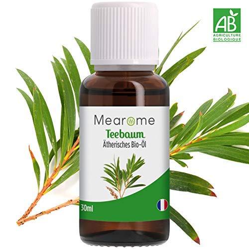 Teebaumöl BIO - 100% Naturreines Ätherisches Öl zur Hautpflege/Kosmetik - Zertifiziertes BIO-Produkt - 30ml - Reinigungsöl gegen Pickel, Anti-Mitesser, Akne - Naturprodukte für reine Haut von MEARÔME