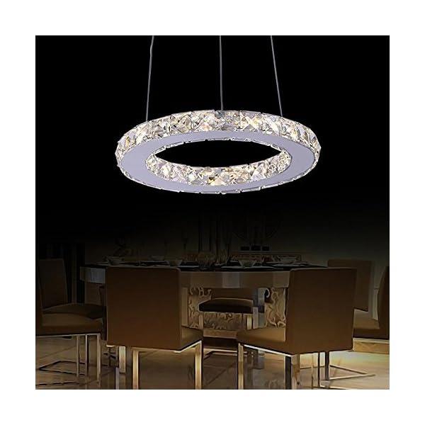 Lonfenner In Acciaio Inox Salone Moderno Lampadario Cristallo