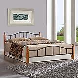 #2: FurnitureKraft Kansas King Size Bed (Glossy Finish, Black)