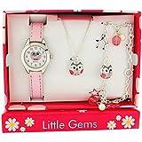 Ravel Kids, Mädchenschmuck & Uhr Geschenkset, Halskette, Anhängerarmband R2225