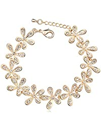 GirlZ! Fashion Rhinestone Flower Bracelet