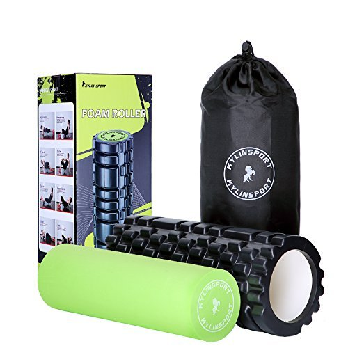 KYLIN SPORT Rouleau en Mousse de Massage 2 en 1 Foam Roller Trigger Point pour le Pilates Yoga Crossfit … (Foam roller 2 en 1)