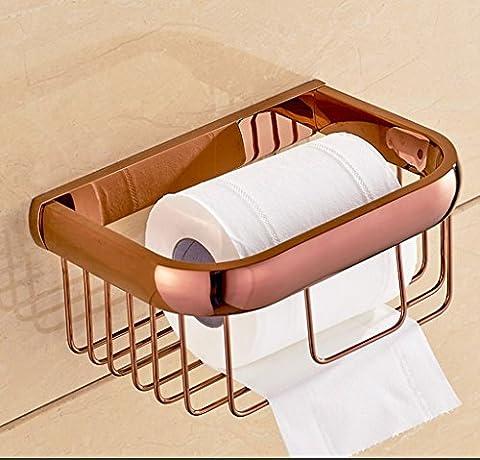 Hyun times Europäische All-Kupfer Handtuchhalter Toilettenpapierhalter prägnante Roségold Korb Bad Toilettenpapier Handtücher und Toilettenpapierhalter Lou