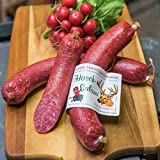Hirschsalami   mild geräucherte Edelsalami aus Hirschfleisch   Wildsalami   Wildwurst Spezialität aus dem Harz   Vakuumverpackung