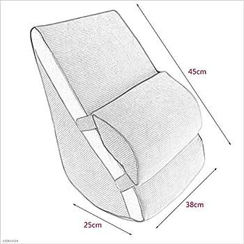 XC KAODIAN Coussin de lit, Coton de mémoire Triangle Retour Canapé de Chambre à Coucher Taille Oreiller de Cou Oreiller en Forme de U Paresseux Lombaire KD (Couleur : D, Taille : *1)