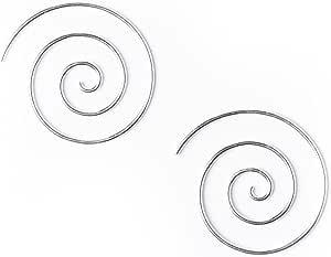 81stgeneration Argento .925 Orecchini Tribali A Spirale 16 Calibro 25 Mm