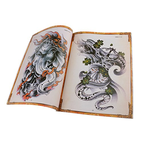 80 Tattoo Nachschlagewerk Skull Snake Wolf Animal Flowers Design Sketch Book