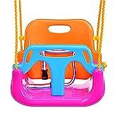 ZDDAB Kinderspielzeug Indoor Schaukel, Home Babyschaukel Outdoor Kinderhängesitz, Kinderschaukel Set (Farbe : Bright Colors, Stil : B)