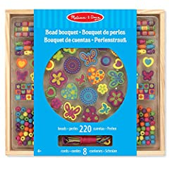 Idea Regalo - Melissa and Doug Kit creativi in legno Set di perle - Deluxe