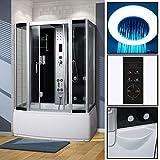 VIRPOL Modern Steam Shower Cabin Enclosure Bath Room with 4Massage Jets