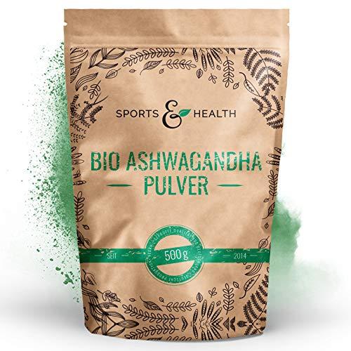 Ashwagandha Pulver Bio - 500g Beutel Bio Ashwagandha Pulver - Aus Kontrolliert Biologischem Anbau - Beste Qualität- Made In Germany - Bio Aschwaganda Pulver
