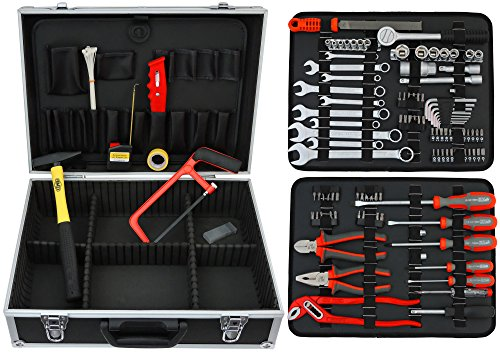 FAMEX 758-65 Werkzeugkoffer 115-/insgesamt 130-tlg - 2