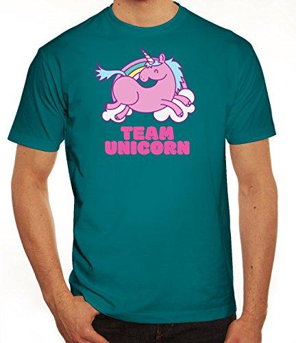 Einhorn Herren T-Shirt mit Team Unicorn Motiv von ShirtStreet Diva
