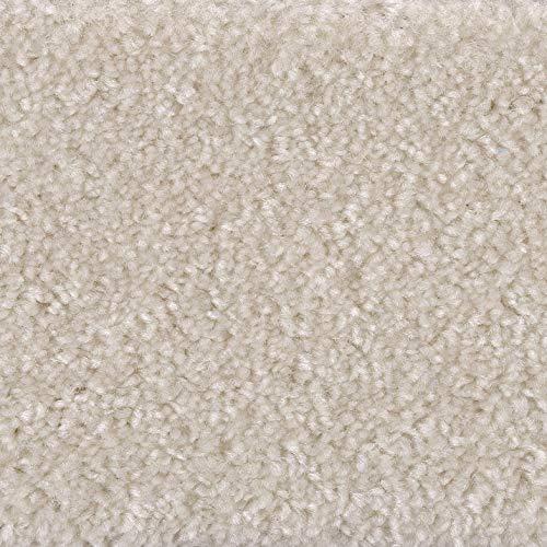 Weiße Flokati-teppiche (Velours-Teppichboden in Weiß | weiche & strapazierfähige Auslegeware | zugeschnittener Bodenbelag | Teppich Langflor in der Größe 100x400 cm | gemütliche Teppichfliesen)