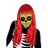 El Día de los Muertos - Mascara calavera Katrina Flor, talla única (Rubie's Spain S3187)
