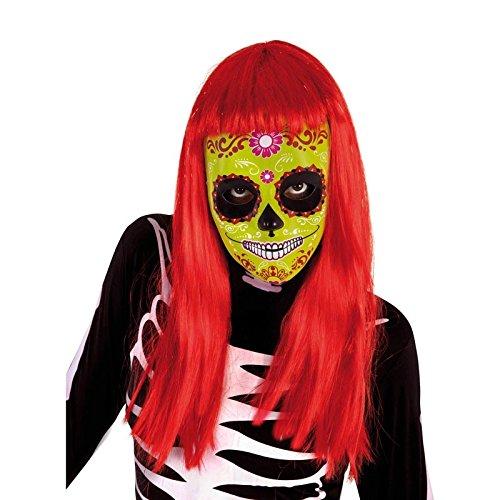 os Der Tag der Toten–Mascara Totenkopf Katrina Blume, Einheitsgröße (Rubie 's Spain s3187) (Tag Der Toten Dekor)