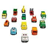 Veicoli Tirare Indietro e Andare 14 Pezzi di Veicoli Assortiti da Costruzione e Macchina Giocattolo da Corsa Veicoli Camion Mini Auto Giocattolo per Bambini