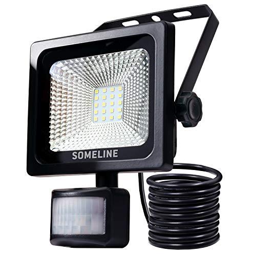 20W LED Strahler Außenwandleuchten mit Bewegungsmelder IP66 Wasserdicht Fluter für Aussen Flutlichtstrahler mit Bewegungssensor SOMELINE Flutlicht mit PIR -