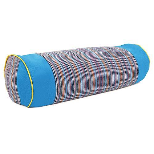 SAPURA Yogakissen lang Yoga Kissenrolle aus Baumwolle Nackenrolle Meditationskissen Bolster waschbar