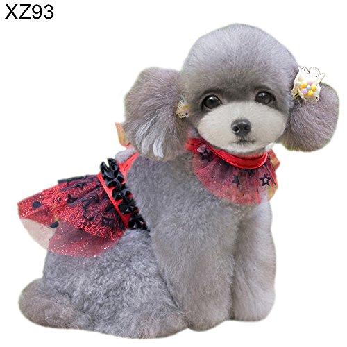 Homeofying Lovely Flower Print Hund Puppy Cat Kleid mit Rückengurt Haustier Kleidung Bekleidung