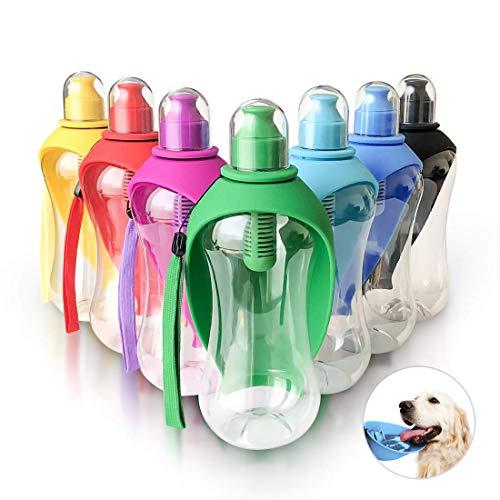 Bark & Meow Hundetrinkflasche für unterwegs, tragbar, für Hunde und Haustiere, 550 ml, mit Kohlefilter