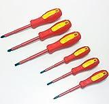 Profi Schraubendreher SET, 6x Schrauben Dreher Zieher sehr griffig, magnetisch, CR-V