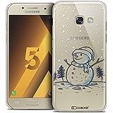 Caseink - Coque Housse Etui Samsung Galaxy A5 2017 (A520) [Crystal Motif HD Collection Noël 2016 Design Bonhomme de Neige - Rigide - Ultra Fin - Imprimé en France]
