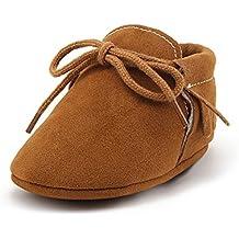 DELEBAO Zapatos de Niño Botas Gamuza Cuero Bebé Zapatillas para Bebe con Suela Blanda Zapatos Primeros