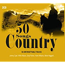 2CD 50 Songs Country, Johnny Cash, Tex Ritter, Dolly Parton, Country Music