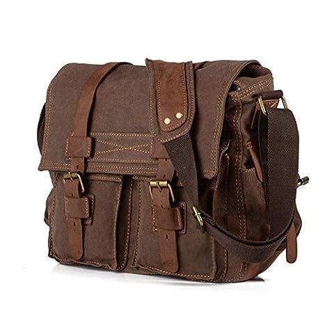 Vintage Military Men Canvas Messenger Bag Shoulder Bag