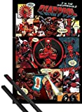 1art1® Poster + Suspension : Deadpool Poster (91x61 cm) Outta This Way, Nerd. Et Kit De Fixation Noir