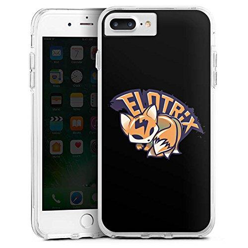 Apple iPhone X Silikon Hülle Case Schutzhülle Elotrix Merchandise Fanartikel Youtuber Bumper Case transparent