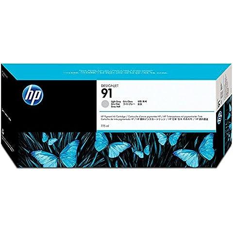 HP Cartucho de tinta gris claro de pigmento HP 91 de 775 ml 91 Ink Cartridges, de 15 a 35 °C, 1.09 kg (2.4