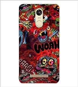 PrintDhaba Graffiti D-3844 Back Case Cover for XIAOMI REDMI NOTE 3 (MEDIATEK) (Multi-Coloured)
