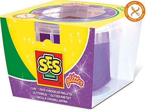 SES Creative - 00409 - Pâte à Modeler - Violet à Paillettes
