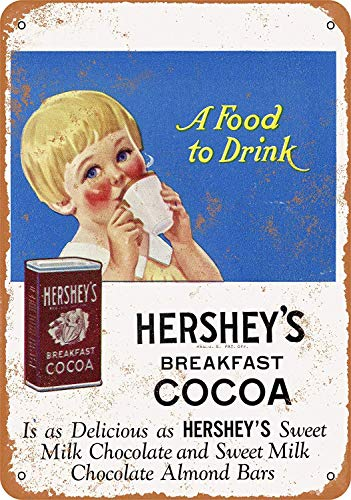 Sary buri Metal Tin Sign Poster Hershey's Breakfast Cocoa Shop Family Plaque Wandkunst Garage Club Bar Dekoration