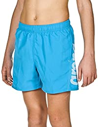 Arena Ragazzi Fundamentals Logo Boxer pantaloncini da bagno, Ragazzo, arena Jungen Badeshort Fundamentals Arena Logo Boxer, turquoise-White, 164