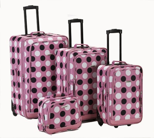 rockland-luggage-dot-4-piece-luggage-set-pink-dot-one-size