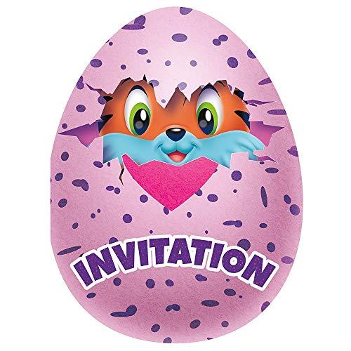 Unique Party 59314hatchimals invitación para la fiesta