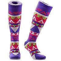 Samson Hosiery® Lustige, kniehohe Regenbogen-Socken, witziges Geschenk, zum Sport und dem täglihen Gebrauch, für Männer, Frauen und Kinder, Unisex