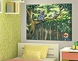 LeinwandBild Abrafaxe - Mama Koala und ihr Junges Leinwanddruck, Rahmen, Mosaik, Koala, Comic, Abenteuer, Dschungel
