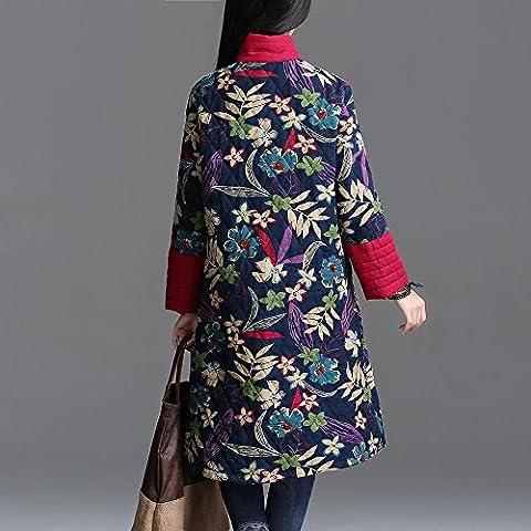 &zhou Viento nacional otoño/invierno/peludo/clásico/capa/vestido/flojo/camisa/China , pink ,