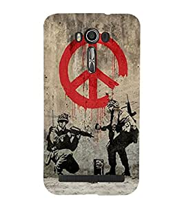 Takkloo Cop on duty ( cops with weapon, police on shootout, sketch on police officer) Printed Designer Back Case Cover for Asus Zenfone 2 Laser ZE550KL (5.5 Inches)