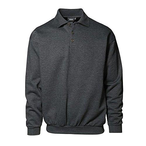 ID Herren Klassisches Polo-Sweatshirt koks