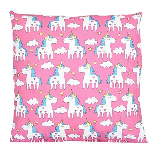 TupTam Kissenhülle Dekorativ Gemustert Dekokissen Baumwolle, Farbe: Einhorn Rosa, Größe: 40 x 60 cm