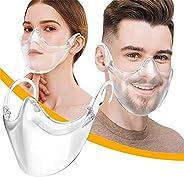 Transparent Face Shield Durable Reusable Clear Face Mask Combine Comfort & Safety Plastic Bandanas for Adu