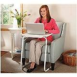 Ebee Table Mate IV Plastic Multi-Utility Adjustable Foldable Desk (White)