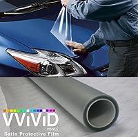 180\\ X 54\\ (Bulk Roll) Vvivid Clear Protective Satin Finish Vinyl Wrap Guard Film Sheet (180