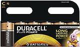 Duracell Plus Power Type C Alkaline Batteries, pack of 6