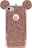 The Kase Paris Coque Bling Strass pour iPhone 7 Or/Rose